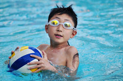 Swimming boy Stock Photography