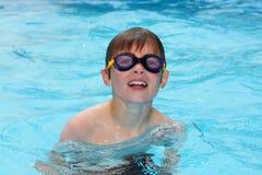 Swimming boy Stock Photo