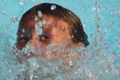 Swimming boy Stock Photo