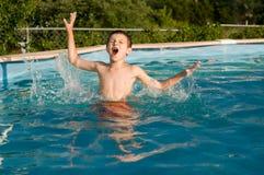 Swimming boy Royalty Free Stock Image