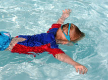 Swimming Boy royalty free stock image
