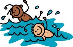 Swimming Boys Stock Photography