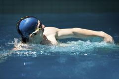 Swimming (Breast Stroke) Royalty Free Stock Photo