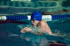 Swimming breaststroke Royalty Free Stock Photography
