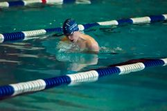 Swimming breaststroke Royalty Free Stock Images