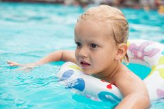 Swimming child Royalty Free Stock Photography