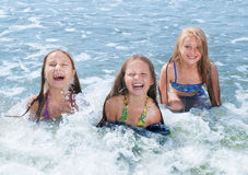 swimming children Royalty Free Stock Images