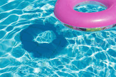 A swimming circle in a swimming pool Royalty Free Stock Photo