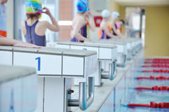 Swimming competition Stock Image