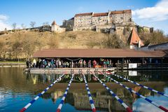 Swimming competition in Burghausen,Germany Royalty Free Stock Images