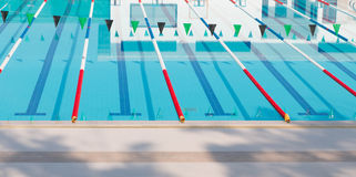 Swimming competition pool Stock Photography