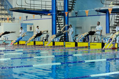 Swimming competition in Ukraine Royalty Free Stock Photo