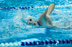 Swimming competition in Ukraine Stock Photo