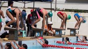Swimming contest Stock Photo
