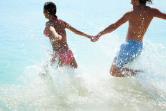 Swimming couple Stock Image