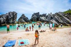 Swimming Cove Bermuda Royalty Free Stock Photo