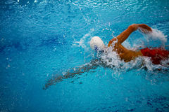 Swimming crawl athlete Stock Photography