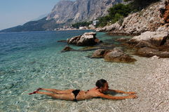 Swimming in Croatia Royalty Free Stock Photos