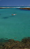 Swimming in crystalline clear sea. Swimming in crystalline clear waters in Porto de Galinhas, Brazil stock photo