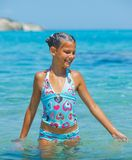 Swimming cute girl Stock Photography