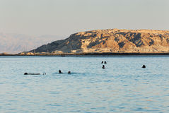 Swimming in the Dead Sea Royalty Free Stock Images