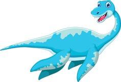 Swimming dinosaur cartoon Royalty Free Stock Photo