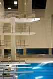 Swimming diving hall Royalty Free Stock Photos