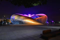 The swimming and diving hall in Guangxi Sports Center Royalty Free Stock Image
