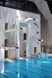 Swimming diving hall Stock Photography