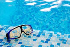 Swimming diving mask (goggles) Royalty Free Stock Photography