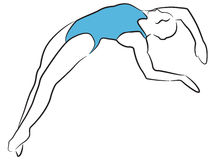 Swimming & Diving Women Royalty Free Stock Photo