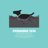 Swimming Dog In The Wave Royalty Free Stock Images