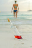 Swimming drunk is dangerous. Royalty Free Stock Photo