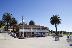 Swimming enclosure on Corio Bay at Geelong royalty free stock images