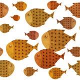 Swimming fish border illustration Royalty Free Stock Photography