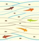 Swimming Fish Pattern Stock Photos