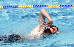 Swimming Freestyle Professional Royalty Free Stock Photography
