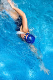 Swimming. Freestyle Woman. Young woman swimming in freestyle Stock Images