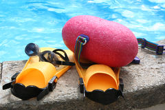 Swimming gear. By the pool Stock Image