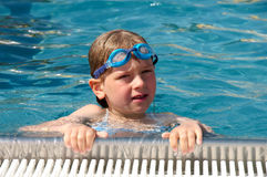 Swimming girl Stock Image
