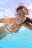 Swimming girl royalty free stock photos
