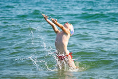 Swimming girl Royalty Free Stock Images