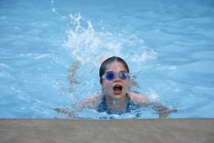 Swimming Girl Royalty Free Stock Photos