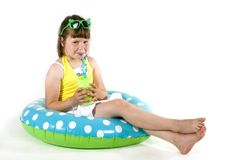 Swimming girl Royalty Free Stock Photo