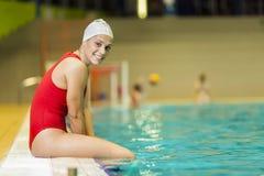 Swimming girl Stock Image