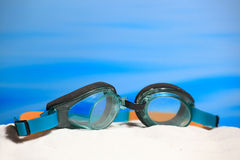 Swimming glasses Stock Images