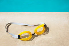 Swimming glasses goggles Stock Photos