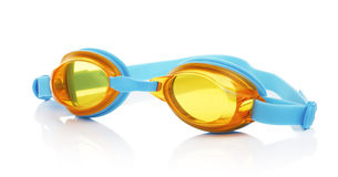 Swimming Glasses. Glasses for swimming, isolated on white background royalty free stock image