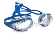 Swimming Goggles. Isolated Swimming Goggles on White Background Stock Photo
