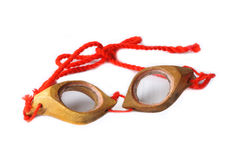 Swimming goggles. Made by wooden Stock Photography